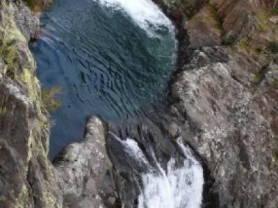 Cascadas del Aljibe;material para senderismo;senderismo en invierno
